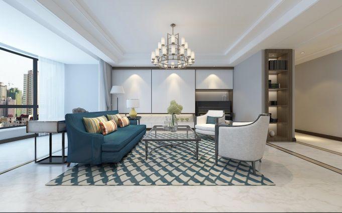2020现代150平米效果图 2020现代三居室装修设计图片