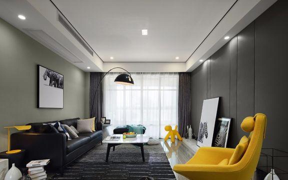 现代简约风格90平米3房2厅房子装饰效果图