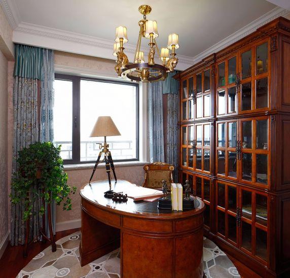 书房书桌新古典风格装饰图片
