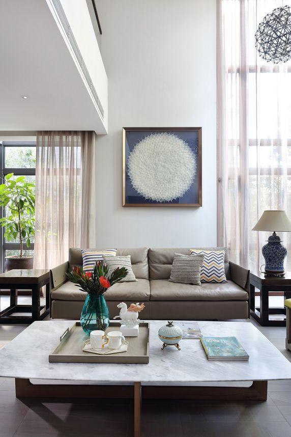 客厅窗帘中式风格装潢设计图片
