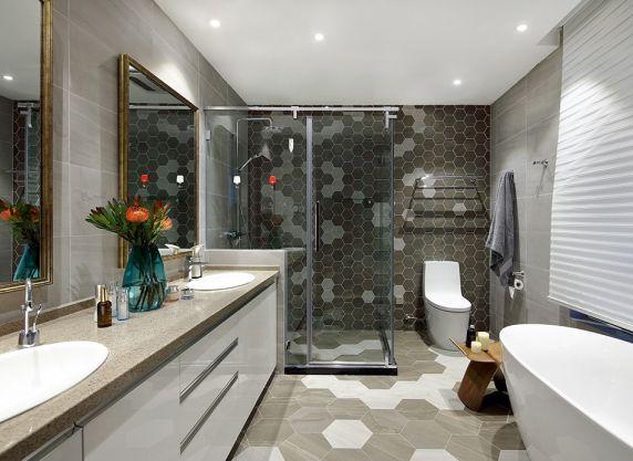 卫生间洗漱台中式风格装修效果图