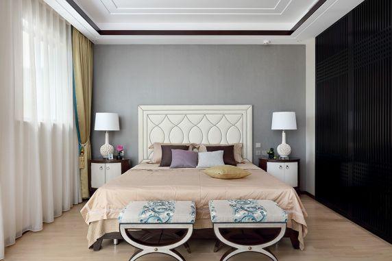 卧室背景墙中式风格装饰效果图