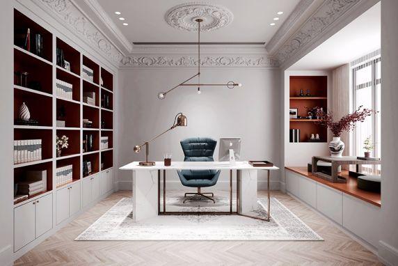 书房书桌法式风格装修效果图