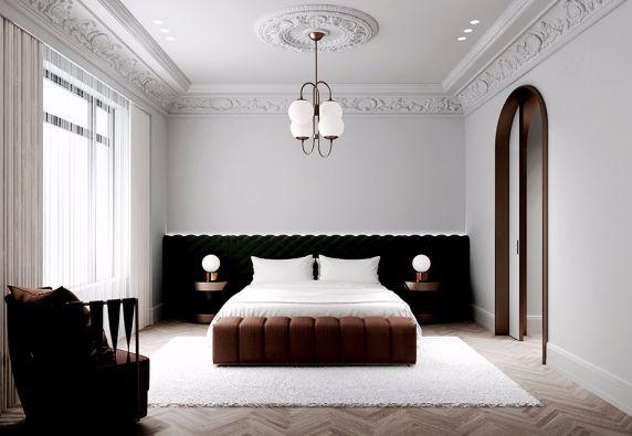 客厅窗帘法式风格装潢效果图