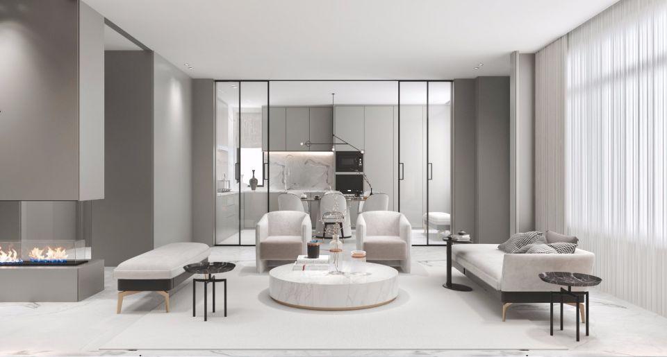 440平米现代简约风格四居装修效果图