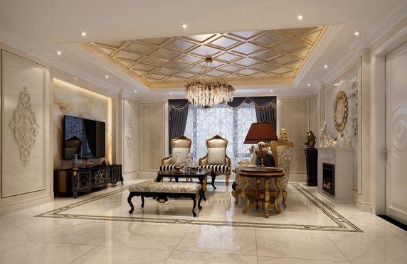 客厅沙发新古典风格装饰效果图
