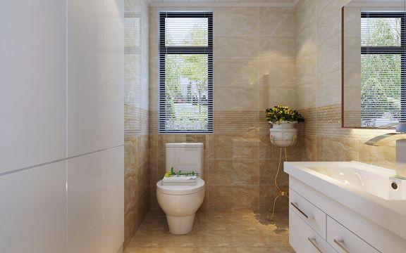 卫生间地砖现代简约风格装饰效果图