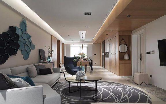 保利东湾128平米现代风格三居装修效果图