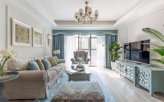78平米混搭风格二居室装修效果图