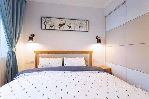 卧室床简约风格装潢设计图片