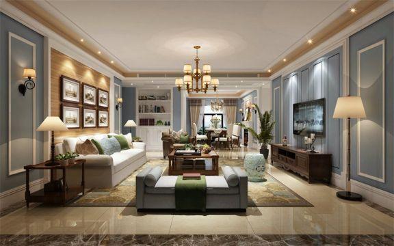 90平米简欧风格二居室装修效果图