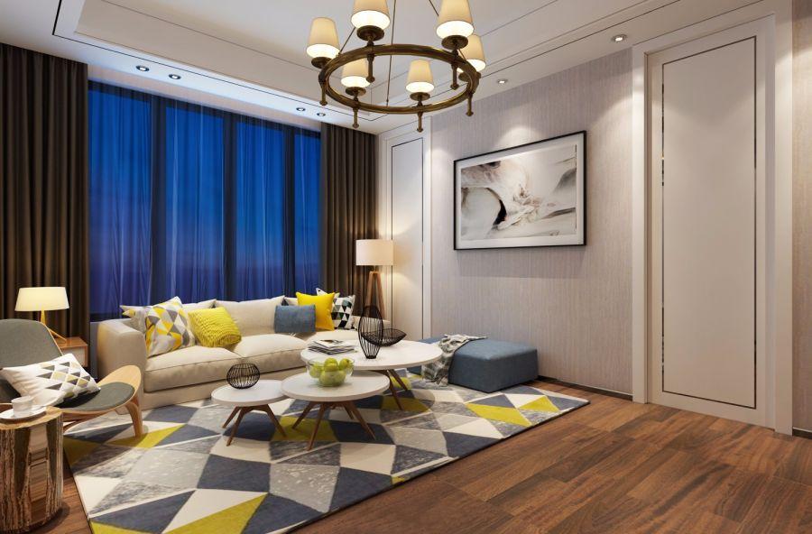 卧室白色吊顶现代简约风格装饰设计图片