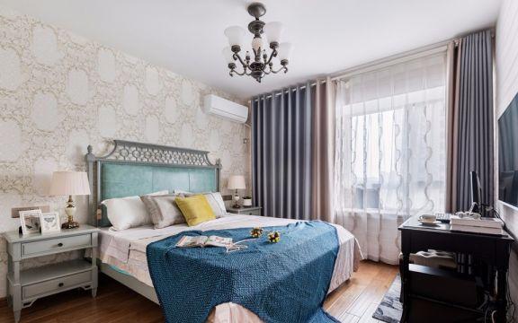丁家庄小区美式风格82平方二居室装修效果图