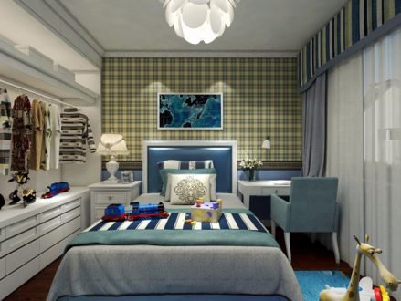 儿童房床现代风格装饰图片