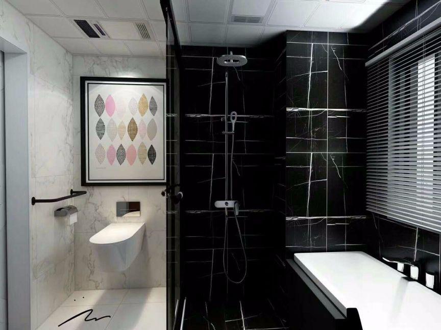 卫生间隔断简约风格装修图片