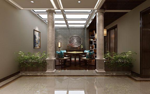 客厅地板砖经典风格效果图