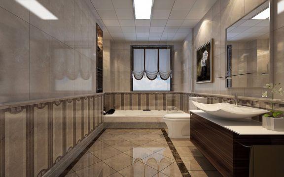 卫生间洗漱台经典风格装修设计图片