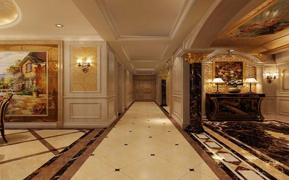 玄关走廊法式风格装潢效果图