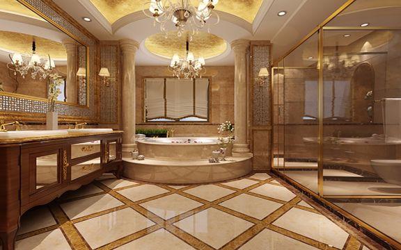 卫生间洗漱台法式风格装潢图片