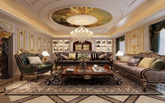 莱安逸珲法式风格200平米五室两厅装修效果图