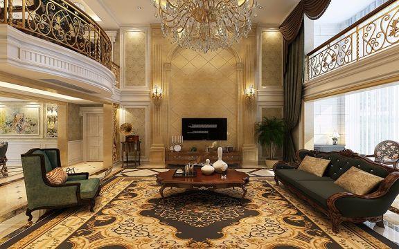 简欧风格280平米大户型厅新房装修效果图