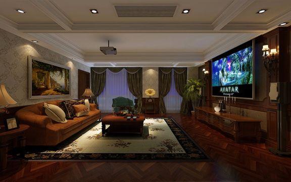 起居室沙发简欧风格装饰设计图片