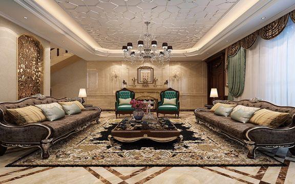 中海铂宫现代简约风格别墅八室五厅300平米装修效果图