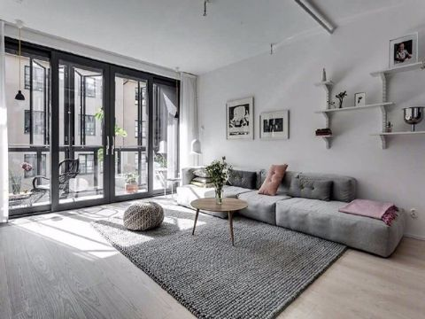 现代简约风格90平米小户型室内装修效果图