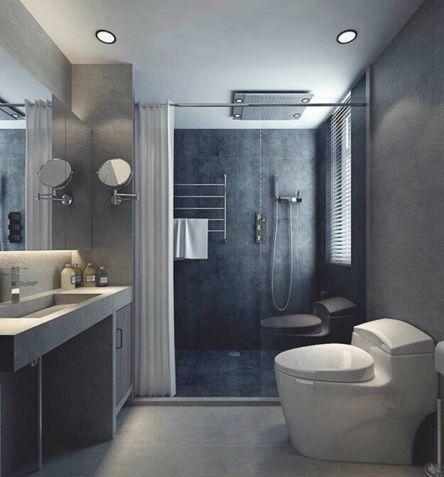 卫生间隐形门简欧风格装潢效果图