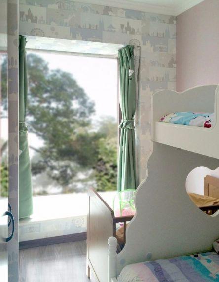 儿童房窗帘现代简约风格装饰设计图片