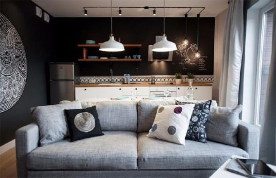 40平波兰轻工业风格一居室装修效果图