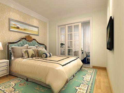 卧室推拉门简欧风格装修效果图