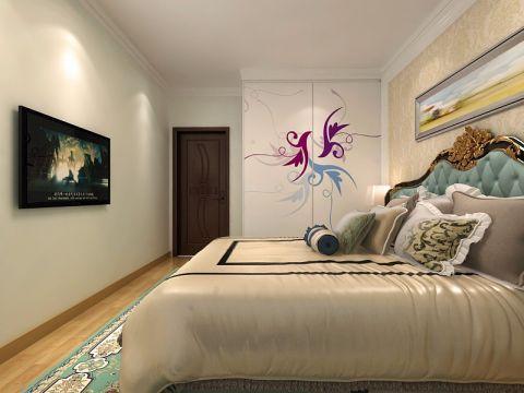 卧室背景墙简欧风格装饰效果图