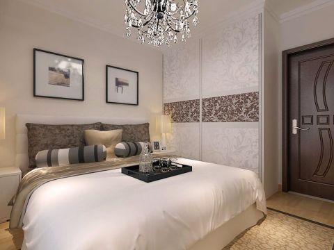 卧室照片墙简欧风格装潢效果图