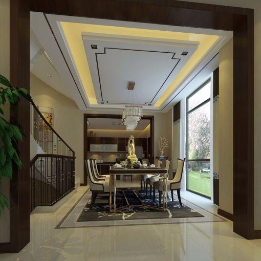 中式风格450平米别墅新房装修效果图