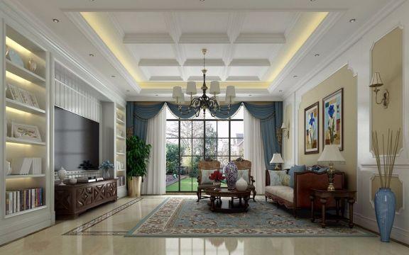 美式风格470平米别墅新房装修效果图