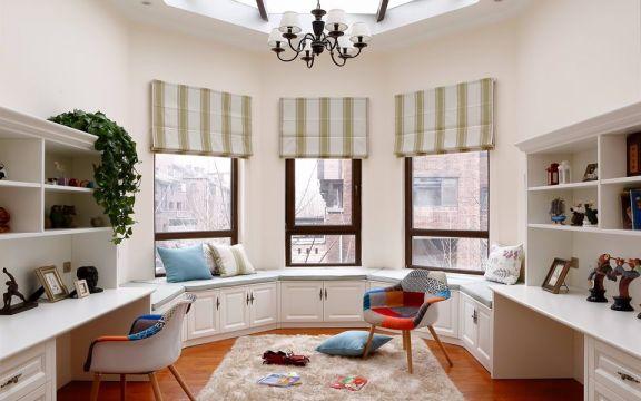 阳光房背景墙美式风格装潢效果图
