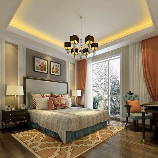 美式风格560平米别墅室内装修效果图