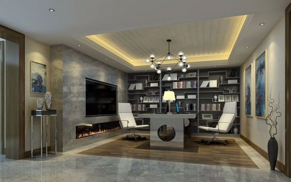 地下室地砖美式风格装饰设计图片