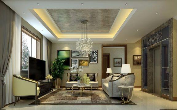 起居室细节美式风格装修效果图