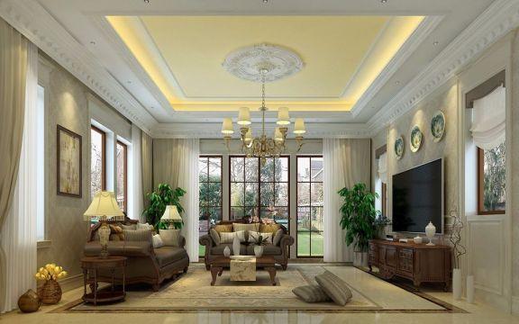420平米欧式风格四居装修设计效果图