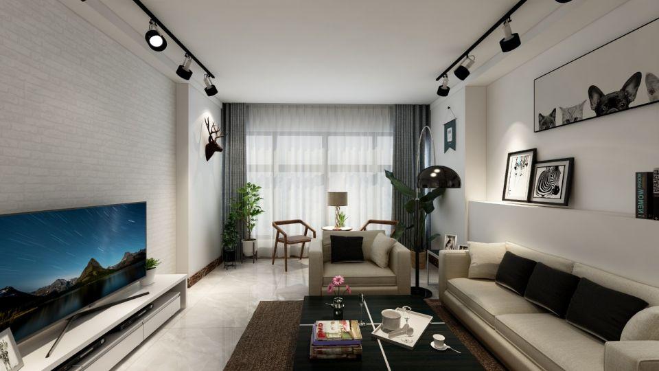 客厅简约风格装修图片