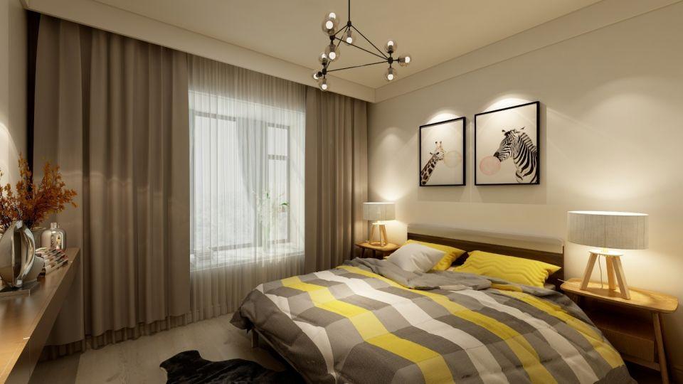 简约风格100平米两房两厅新房装修效果图