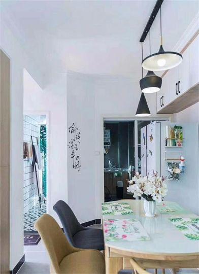 餐厅吊顶混搭风格装修设计图片