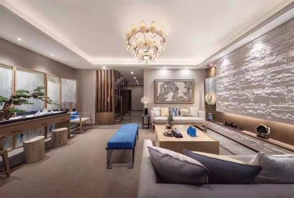 新中式风格300平米大户型新房装修效果图