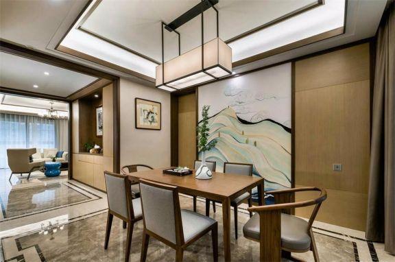 餐厅餐桌新中式风格装饰设计图片