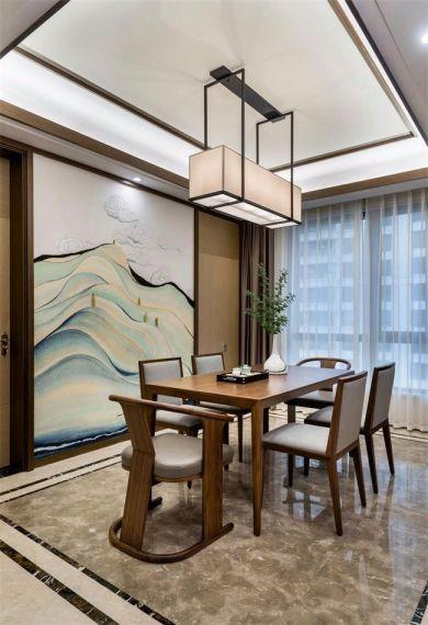 餐厅地板砖新中式风格效果图