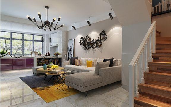 客厅楼梯简约风格装饰设计图片