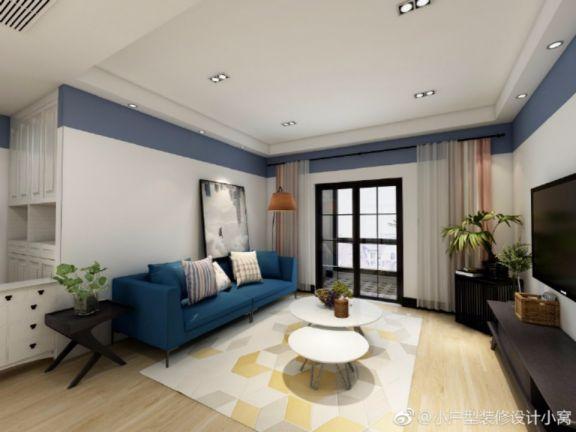 东方名城三室两厅140平简约混搭装修案例