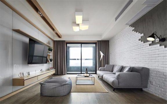 西善华苑万兴园 78平现代风格两室两厅一卫装修效果图